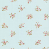 344-68708-Petra Blue Roselle Toss wallpaper