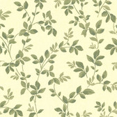 344-68726-Cleo Yellow Dog Rose Leaf Trail wallpaper
