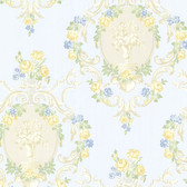 344-68744-Maybelle Blue Cameo Damask wallpaper