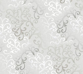 Contemporary Christel Fading Busy Toss Wallpaper in Silver and White CHR1163