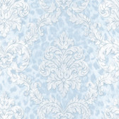 Contemporary Christel Gabriella Ogge Busy Toss Baby Blue Wallpaper CHR11705