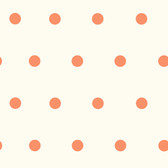 Contemporary Christel Kenley Polka Dots Orange Wallpaper CHR11715