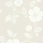 Zinc Modern Floral Linen Wallpaper 450-67324