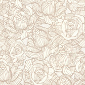 Zinc Calista Modern Rose Sepia-Ivory Wallpaper 450-67344