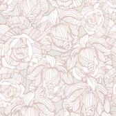 Zinc Calista Modern Rose Mauve-Frost Wallpaper 450-67347