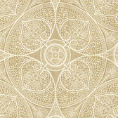 Eijffinger 341751-Yasamin Gold Mehndi Medallion wallpaper