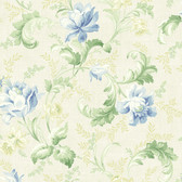 291-70002-Light Blue Floral Trail Acanthus wallpaper