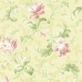 291-70003-Yellow Floral Trail Acanthus wallpaper