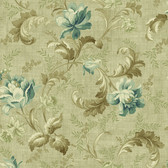 291-70004-Dark Blue Floral Trail Acanthus wallpaper