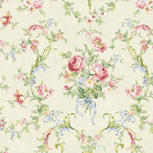 291-70202-Light Green Floral Bouquet wallpaper