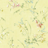 291-71103-Yellow Columbine Toss wallpaper