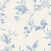 291-71502-Blue Tonal Leaf Trail wallpaper