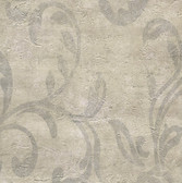 WD3091-Plume Wheat Modern Scroll Wallpaper