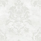 VIR98203 - Asha Pearl Lotus Damask Wallpaper