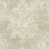 VIR98205 - Asha Gold Lotus Damask Wallpaper