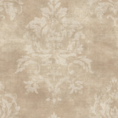 VIR98207 - Asha Sand Lotus Damask Wallpaper