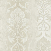 VIR98212 - Lulu Snow Smiling Damask Wallpaper