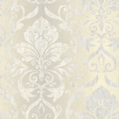 VIR98214 - Lulu Ale Smiling Damask Wallpaper