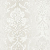 VIR98215 - Lulu Ice Smiling Damask Wallpaper