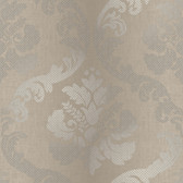 VIR98225 - Delilah Brown Tulip Damask Wallpaper