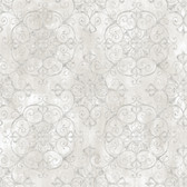 VIR98232 - Aubrey Alabaster Crystal Medallion Texture Wallpaper