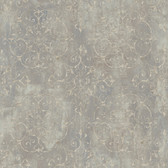 VIR98233 - Aubrey Brown Crystal Medallion Texture Wallpaper