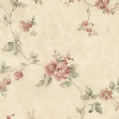 992-62701-Mary Salmon Floral Vine wallpaper