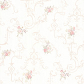 992-68305-Lori Blush Floral Trellis wallpaper