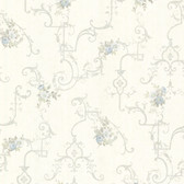 992-68306-Lori Light Blue Floral Trellis wallpaper