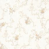 992-68307-Lori Taupe Floral Trellis wallpaper