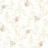 992-68308-Lori Light Green Floral Trellis wallpaper