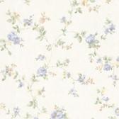 992-68331-Mary Light Blue Floral Vine wallpaper