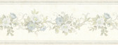 992B07561-Lory Light Blue Floral Border wallpaper