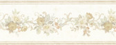 992B07562-Lory Taupe Floral Border wallpaper
