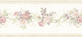 992B07563-Lory Light Green Floral Border wallpaper