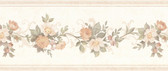 992B07564-Lory Peach Floral Border wallpaper