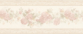 992B07565-Tiff Blush Satin Floral Border wallpaper