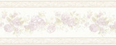 992B07568-Tiff Lavender Satin Floral Border wallpaper