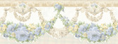 992B07569-Marianne Light Blue Floral Bough Border wallpaper