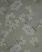 Verve Bebe Blossom Silver Wallpaper 59-54136