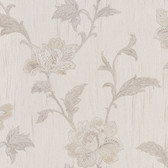 Gemma Embroidered Jacobean Floral Mauve Wallpaper 2537-M3927
