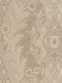 Cristoforo Ornamental Crewel Stripe Latte Wallpaper 2537-M3936