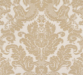 Agnese Embossed Damask Sandcastle Wallpaper 2537-M3957