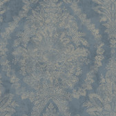 EK4116 - Ronald Redding 18 Karat II Charleston Pearlescent Blue Wallpaper