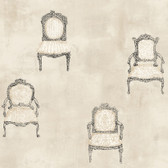 EK4158 - Ronald Redding 18 Karat II Be Seated Ecru Wallpaper