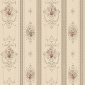 120th anniversary AV2812 DELICATE ROSE STRIPE wallpaper