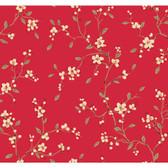 Silver Leaf II Bella Candy Wallpaper SL5675