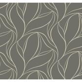 Silver Leaf II Aubrey Pebble Wallpaper SL5699