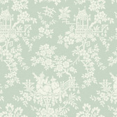 Sculptured Surfaces Teahouse Toile Pistachio Wallpaper RD3570