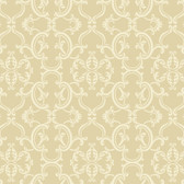 Sculptured Surfaces Crowning sheild Raised Prints Oat Wallpaper RD3597